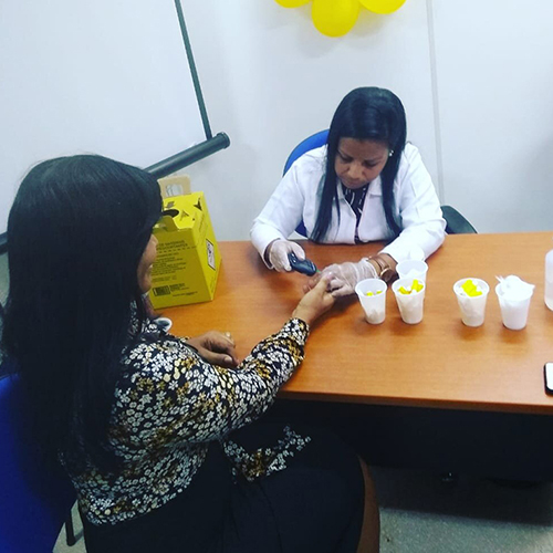 As servidoras do Tribunal de Justiça da Bahia (TJBA) participaram das Ações de Conscientização e Prevenção do Câncer de Mama, realizadas pela FBB