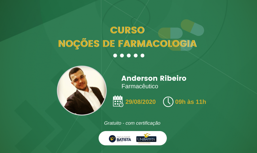 Faculdade Batista Brasileira promove neste sábado (29) Curso de Extensão em Farmacologia