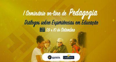 Diálogos sobre experiências em Educação durante a pandemia, será tema do I Seminário Internacional de Pedagogia Brasil – Espanha da Faculdade Batista Brasileira