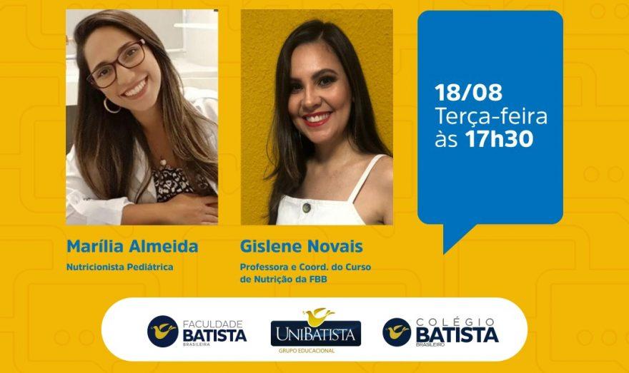"""O Colégio Batista em parceria com a Faculdade Batista Brasileira promove palestra sobre """"Alimentação infantil: O que nunca te contaram"""""""