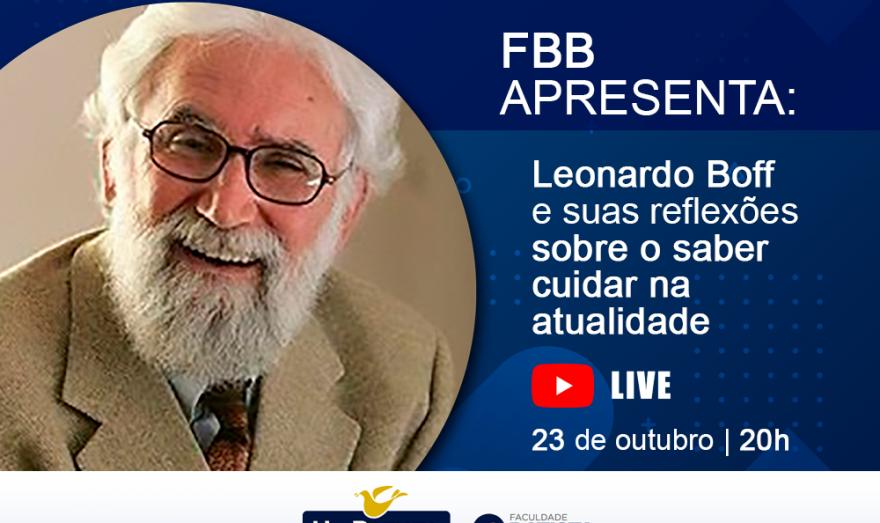 Leonardo Boff realiza palestra on-line no curso de Teologia da Faculdade Batista Brasileira