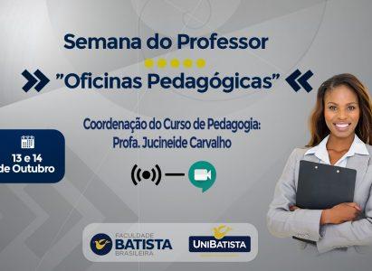 Curso de Pedagogia da FBB promove oficinas pedagógicas em celebração ao Dia do Professor